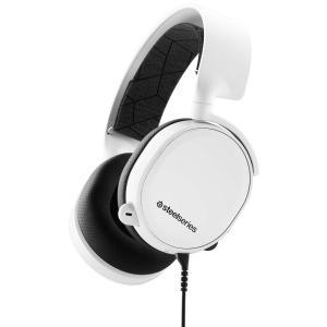 【国内正規品】密閉型 ゲーミングヘッドセット SteelSeries Arctis 3 White ...