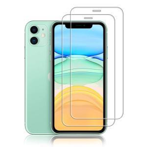 【2枚セット】iPhone 11 ガラスフィルム 6.1インチ ALLFUN アイフォン11 フィル...