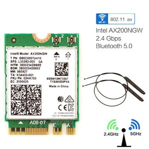 Intel AX200 無線LANカード+アンテナセット1 バルク品 Wi-Fi6 + Bluetooth 5.0 M.2 5GHz/2.4GHz 802.11ax AX200NGW インテル|second-mobile
