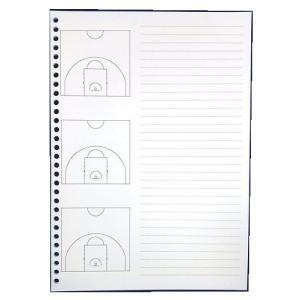 バスケットボール 戦略ルーズリーフ ハーフコート secondlives