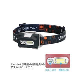 OGK大阪漁具 OG642K ダブルLEDヘッドランプ ブラック|sector3
