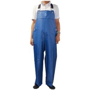 水産マリンレリー 漁師のための専用合羽 胸付ズボン 花紺 L|sector3
