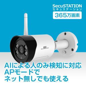 防犯カメラ 家庭用 屋外 AI 検知 マイク内蔵 ネットワークカメラ|secu