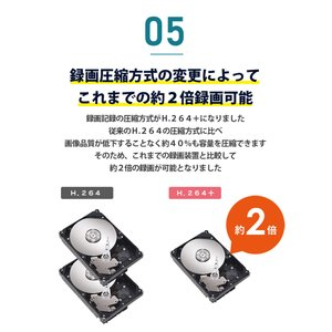 防犯カメラ 録画装置 AHD 最大 8TB 対応|secu|06