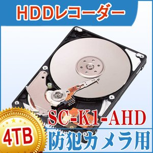 ★オプション★SC-K1-AHD/SC-K1-POE用HDD 4TB 【1TB(初期)+3TB(増設)】