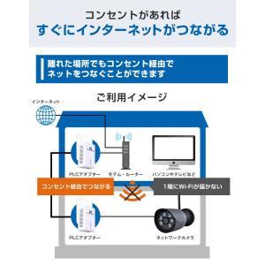 PLCアダプター 高速インターネット 親機 子機 防犯ステーション 防犯カメラ 高速電力通信 200Mbps LAN|secu|04