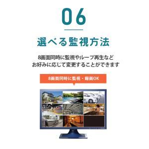 防犯カメラ ネットワークカメラ 用HDD レコーダー 8TB 対応バレット ドーム ボックス SC-XA82 8ch|secu|11