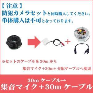 ※30mが付属したカメラセットと一緒にご購入下さい。【単体購入不可】映像・電源一体型ケーブル30m→集音マイク+映像・電源・音声一体型30mケーブルへ変更|secuon