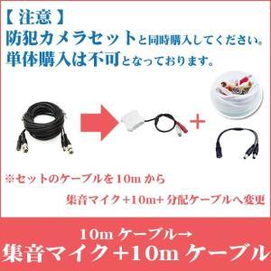 ※10mが付属したカメラセットと一緒にご購入下さい。【単体購入不可】映像・電源一体型ケーブル10m→集音マイク+映像・電源・音声一体型10mケーブルへ変更|secuon