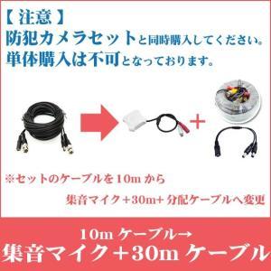 ※10mが付属したカメラセットと一緒にご購入下さい。【単体購入不可】映像・電源一体型ケーブル10m→集音マイク+映像・電源・音声一体型30mケーブルへ変更|secuon