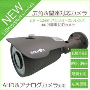100万画素 2.8〜12mmバリフォーカルレンズ 防水 暗視 AHD CMOS-HD MC175