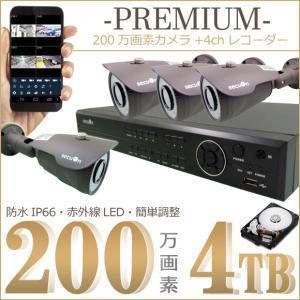 『HDD4000GB標準装備』デジタルレコーダー+2.8~12mmバリフォーカルカメラ4台 PREMIUM限定セット 【secuOn】|secuon