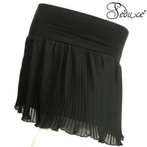 ミニスカートシフォンプリーツレギンス、デニムレギンス、トレンカにもぴったり!重ね履きにも!ブラック黒色SKSeduce|seduce