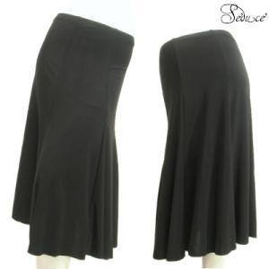 スカート膝下足首上丈6枚はぎボリュームフレアーシンプルフォーマルやダンスにも上品美デザインブラック黒色Seduce|seduce