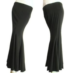マーメイドロングスカートたっぷりとした裾周りでボリュームたっぷり。ダンスやフラメンコ、パーティーにもブラック黒色Seduce|seduce