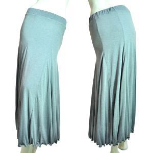 フレアロングスカート 12枚はぎ グレー Seduce|seduce