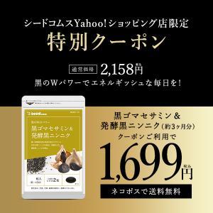 サプリ サプリメント セサミン 黒ゴマセサミン&発酵黒ニンニク 約3ヵ月分 ダイエット