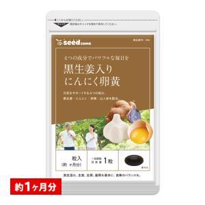 サプリ サプリメント にんにく卵黄 黒生姜入り にんにく卵黄+山人参カプセル 約1ヵ月分 ダイエット