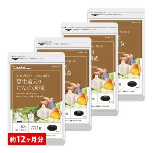サプリ サプリメント にんにく卵黄 黒生姜入りにんにく卵黄 BIGサイズ約1年分 サプリ サプリメント ダイエット、健康グッズ|seedcoms