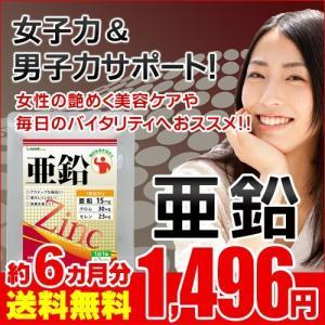 【お徳用半年分SALE】 活力サポート亜鉛 約6ヵ月分 送料無料