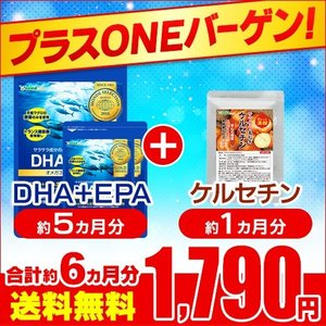 サプリ サプリメント DHA EPA オメガ3 αリノレン酸 プラスONEセール DHA+EPA 約...