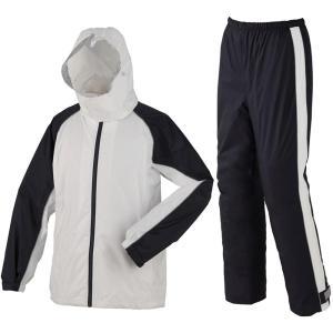 スミクラ レインウェア 透湿ST スーツ リュック型 A-652 ホワイト L(A&B)(送料込み)
