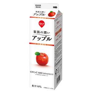スジャータめいらく 家族の潤い アップル 1000ml×12個 【冷蔵】 segp-shop