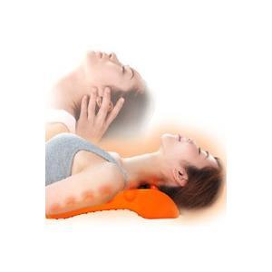 揉まれる肩・首スッキリピロー ドリーム社 美容整体師波多野先生監修 14個の押圧突起が肩首の悩みに ...