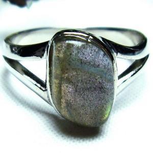ラブラドライト 指輪 h172-64|seian