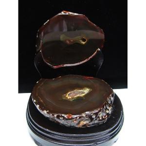2.7Kg ウルグアイ産 ペア水晶トレジャーメノウ パワーストーン 天然石 m172-381|seian