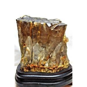 5.1Kg 虹入り ライトニング水晶クラスター パワーストーン 天然石 s61-91|seian