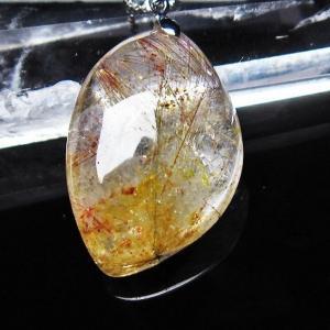 プラチナ入水晶 ペンダント t12-1521|seian