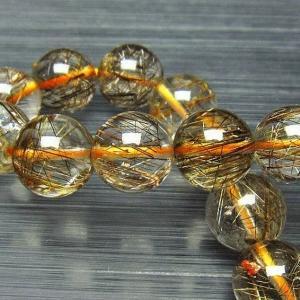 ルチルクォーツ(金針ルチル水晶) ブレスレット 13mm t15-9542|seian