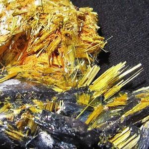 ゴールドタイチンルチルクラスター パワーストーン 天然石 t801-264|seian