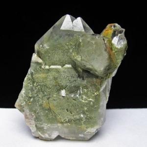 グリーンファントムクォーツ クラスター アメリカ産 パワーストーン 天然石 t126-7412|seian