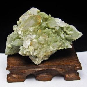 グリーンファントムクォーツ クラスター アメリカ産 パワーストーン 天然石 t126-7415|seian