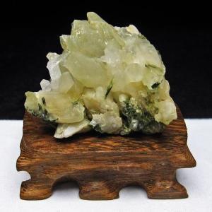 グリーンファントムクォーツ クラスター アメリカ産 パワーストーン 天然石 t126-7425|seian