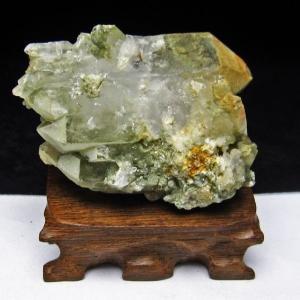 グリーンファントムクォーツ クラスター アメリカ産 パワーストーン 天然石 t126-7429|seian