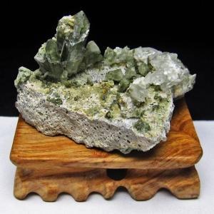 グリーンファントムクォーツ クラスター アメリカ産 パワーストーン 天然石 t126-7441|seian