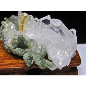 グリーンファントムクォーツ クラスター アメリカ産 パワーストーン 天然石 t126-7444 seian 03
