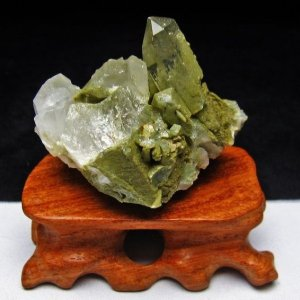 グリーンファントムクォーツ クラスター アメリカ産 パワーストーン 天然石 t126-7461|seian