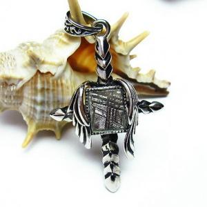 ギベオン メテオライト隕石 十字架 ロザリオ  ペンダント t309-1021|seian