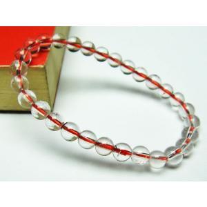 赤ガーデンクォーツ(庭園水晶) ブレスレット 6mm t200-1705|seian