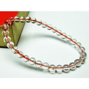 赤ガーデンクォーツ(庭園水晶) ブレスレット 5mm t200-1722|seian