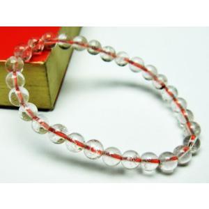 赤ガーデンクォーツ(庭園水晶) ブレスレット 6mm t200-1732|seian