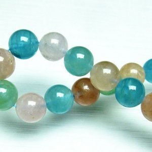 ミックスカラー ベリル ブレスレット 緑柱石 10mm t237-2331|seian