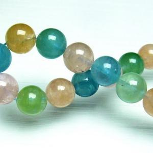 ミックスカラー ベリル ブレスレット 緑柱石 10mm t237-2335|seian