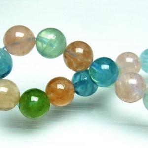 ミックスカラー ベリル ブレスレット 緑柱石 10mm t237-2349|seian