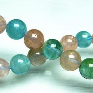 ミックスカラー ベリル ブレスレット 緑柱石 10mm t237-2357|seian