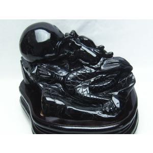 2.8Kg モリオン 純天然 黒水晶  手彫り  龍  置物 t261-890|seian|02